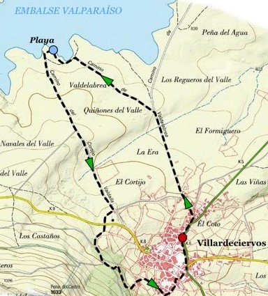 Mapa Camino de Villardeciervos